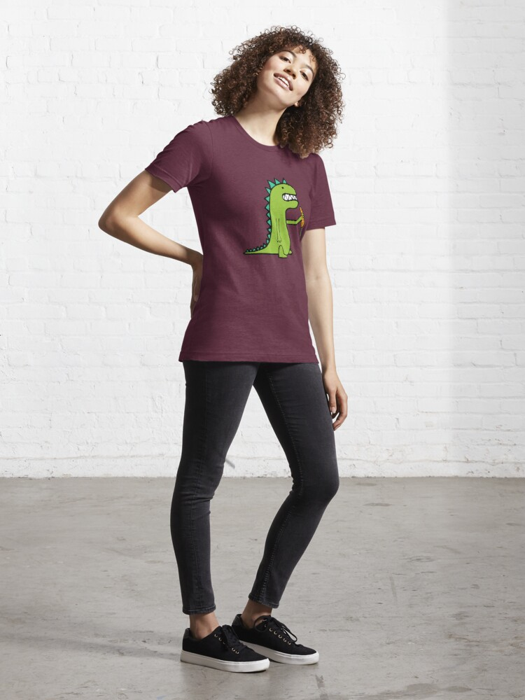 Alternate view of Hungry Dinosaur Essential T-Shirt