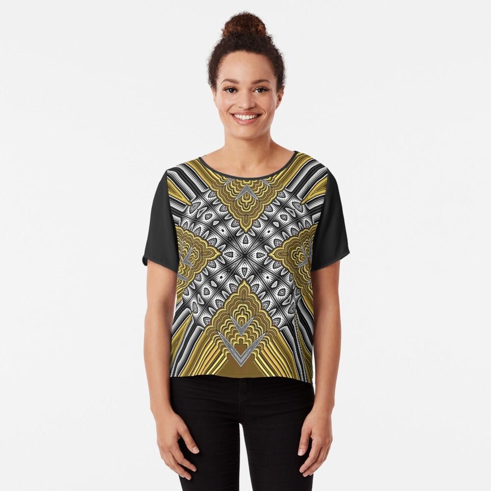 Exotic Crochet (2) Chiffon Top
