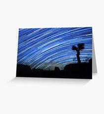 Star Trails Sweep Over Joshua Tree Night Desert Greeting Card