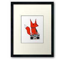 music fox Framed Print