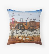 The Outback Traffic Jam Throw Pillow