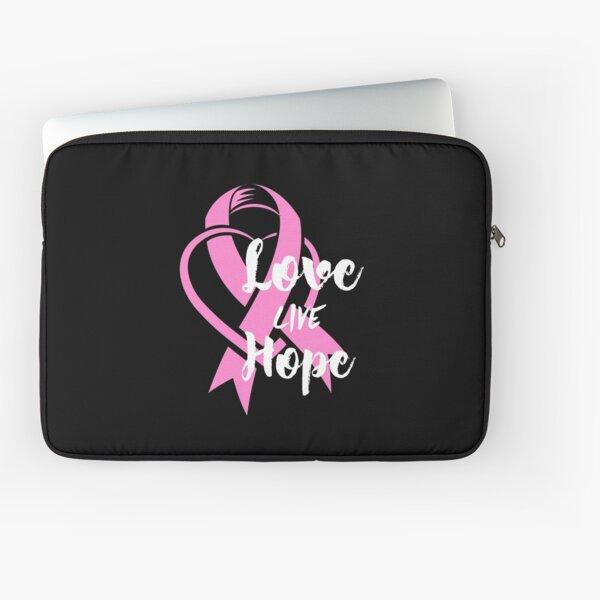 LOVE LIVE HOPE (BEAT BREAST CANCER) DARK COLORS Laptop Sleeve