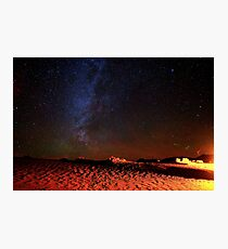 Stars Galaxy Sky over Death Valley Desert Sand Photographic Print