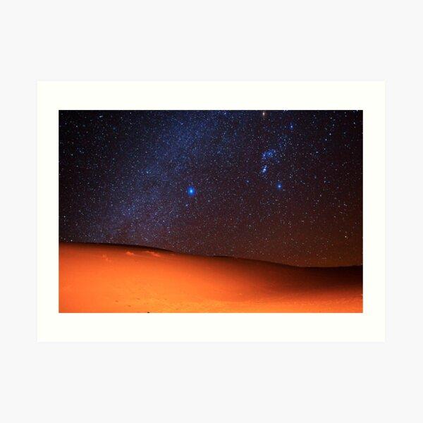 Starscape Over Death Valley Sand Dunes Art Print