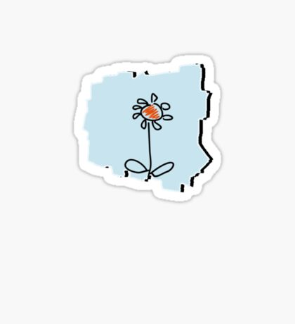 Flower Sketch VRS2 Sticker