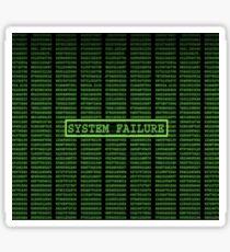 Pegatina Falla del sistema Matrix