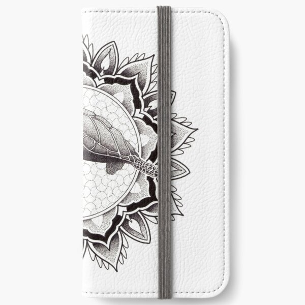 Dotwork sea turtle mandala iPhone Wallet