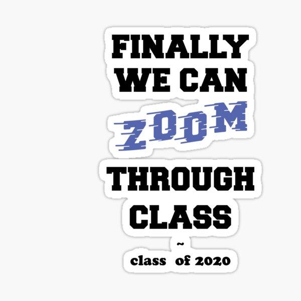 Zoom University Funny Sticker