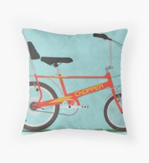 Chopper Bike Throw Pillow