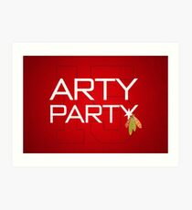 Arty Party Art Print