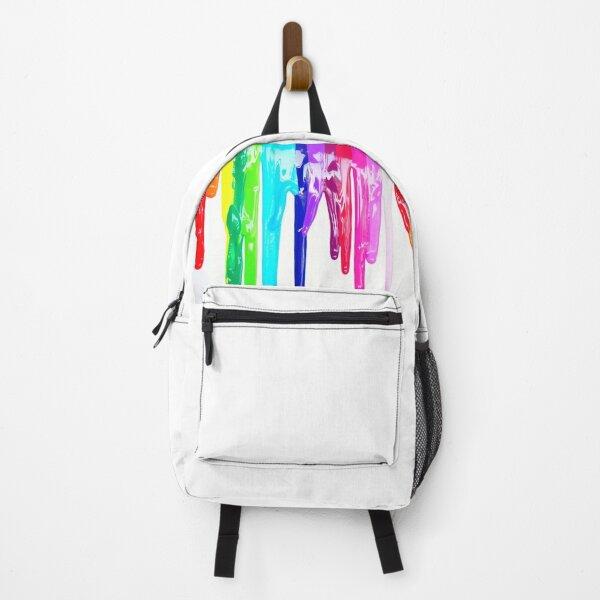 Rainbow Drip Design Backpack