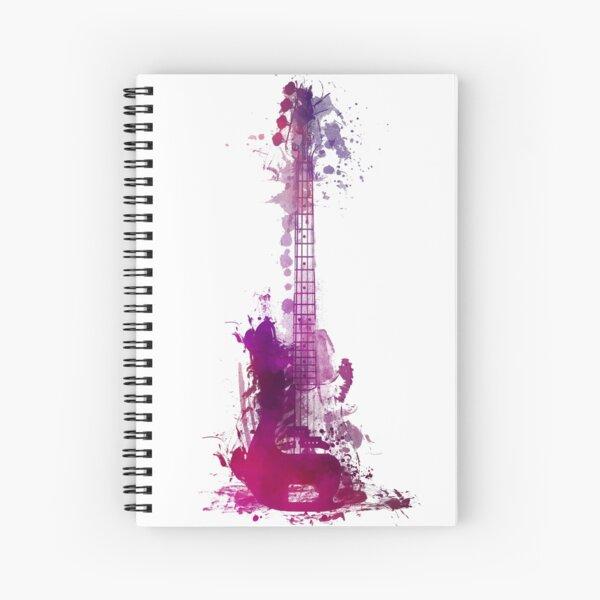 Funky purple guitar Spiral Notebook