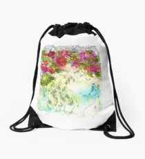 Rose Hips Drawstring Bag