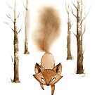 A Little Fox in the Woods by Vivienne To