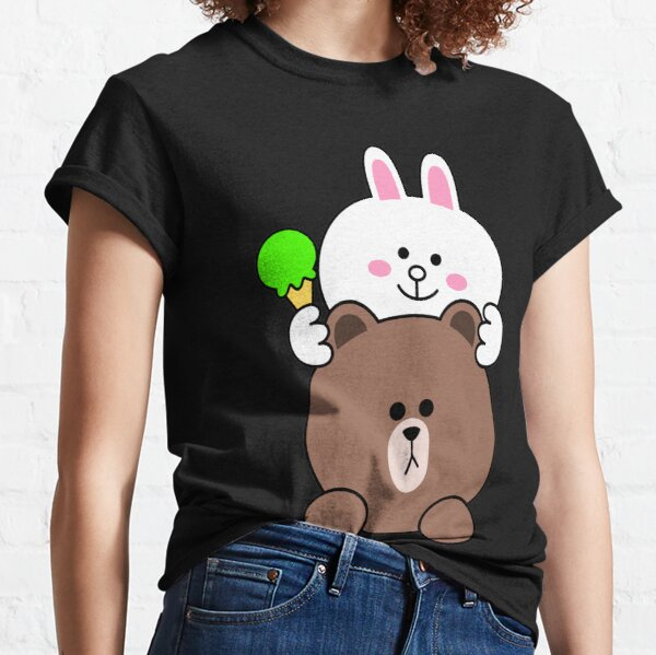 Brown bear and Cony We scream for ice cream  Classic T-Shirt