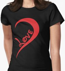 One Love Left Womens Fitted T-Shirt