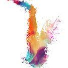 Saxophone colored by JBJart