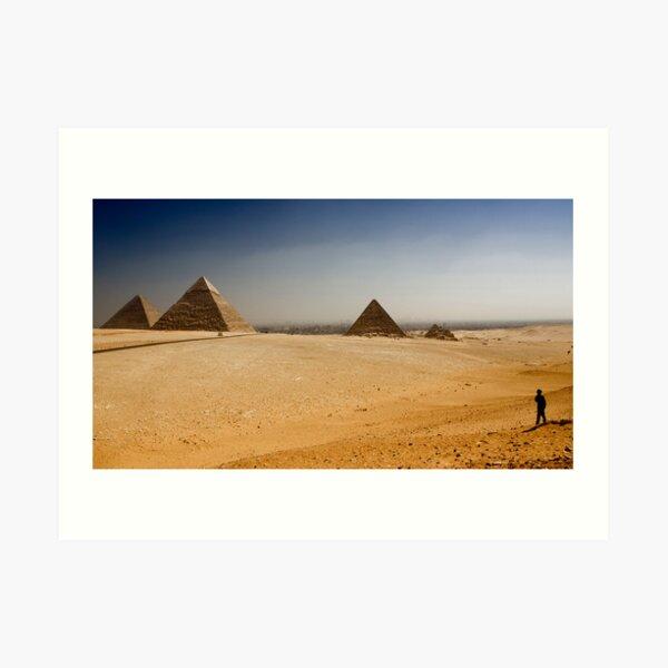 Gizah Pyramids Art Print