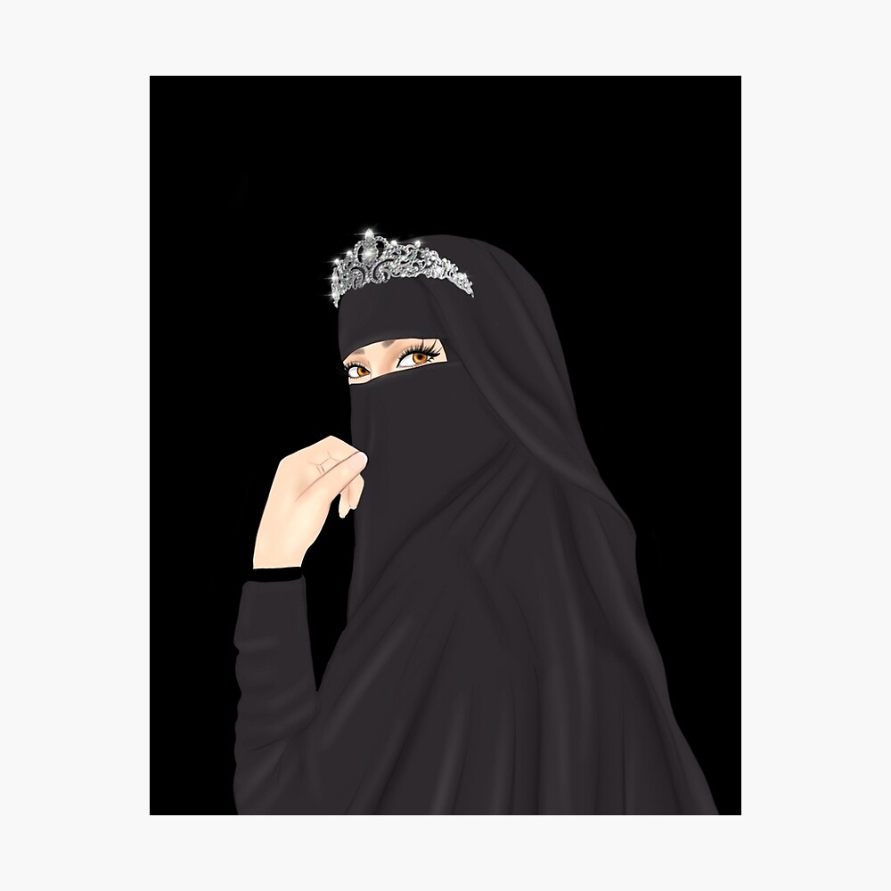Niqab Hijab Princess Drawing Wearing Crown Poster By Imanitasong Redbubble Why should we worry about what others think of us, do we have more confidence. redbubble