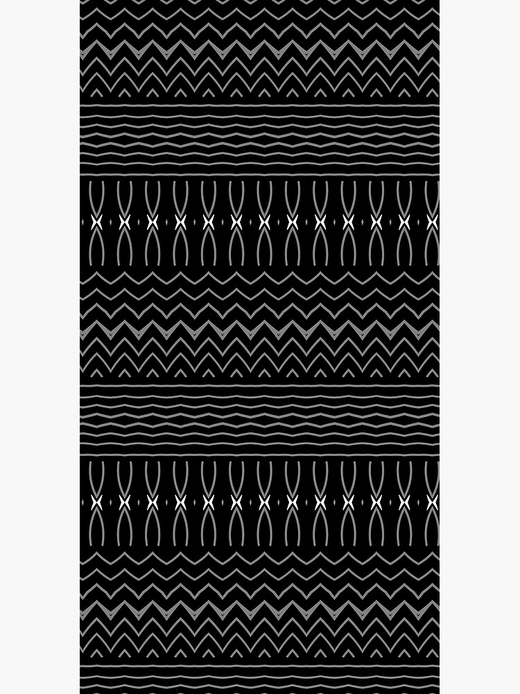 Minimalist Black and White Decorative Pattern by RootSquare