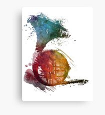 French horn watercolor  Canvas Print
