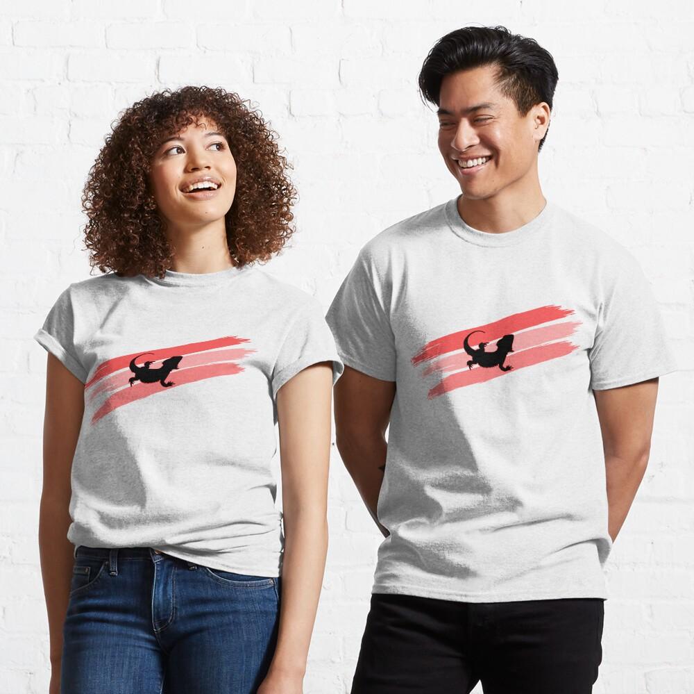 Bearded Dragon Brush Stroke Silhouette Classic T-Shirt