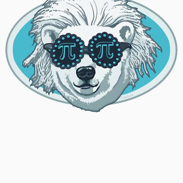Funny Pi-Polar Bear by MudgeStudios