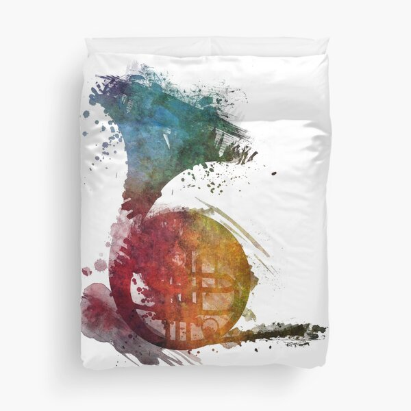 French horn watercolor  Duvet Cover