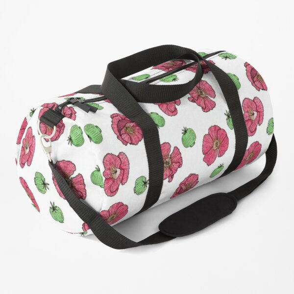 Poppies flowers and seeds pattern Duffle Bag