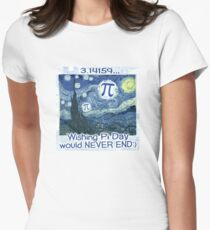 Wishing Pi Day Never Ends Womens Fitted T-Shirt