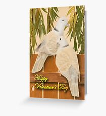 Valentine's Day Doves Greeting Card