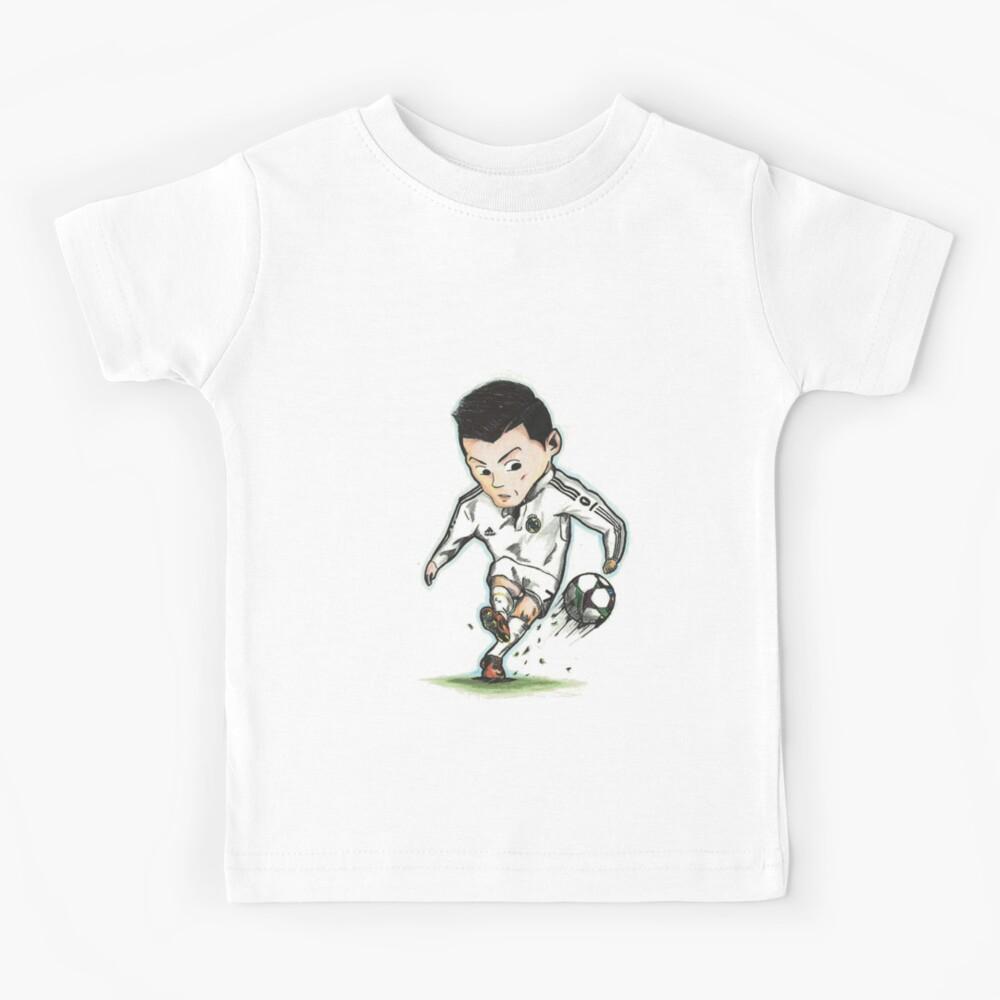 Cristiano Ronaldo Drawing Real Madrid Cr7 Kids T Shirt By Zaleb Redbubble