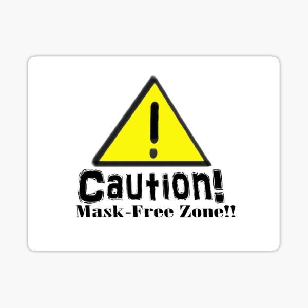 Mask-Free Zone Sticker