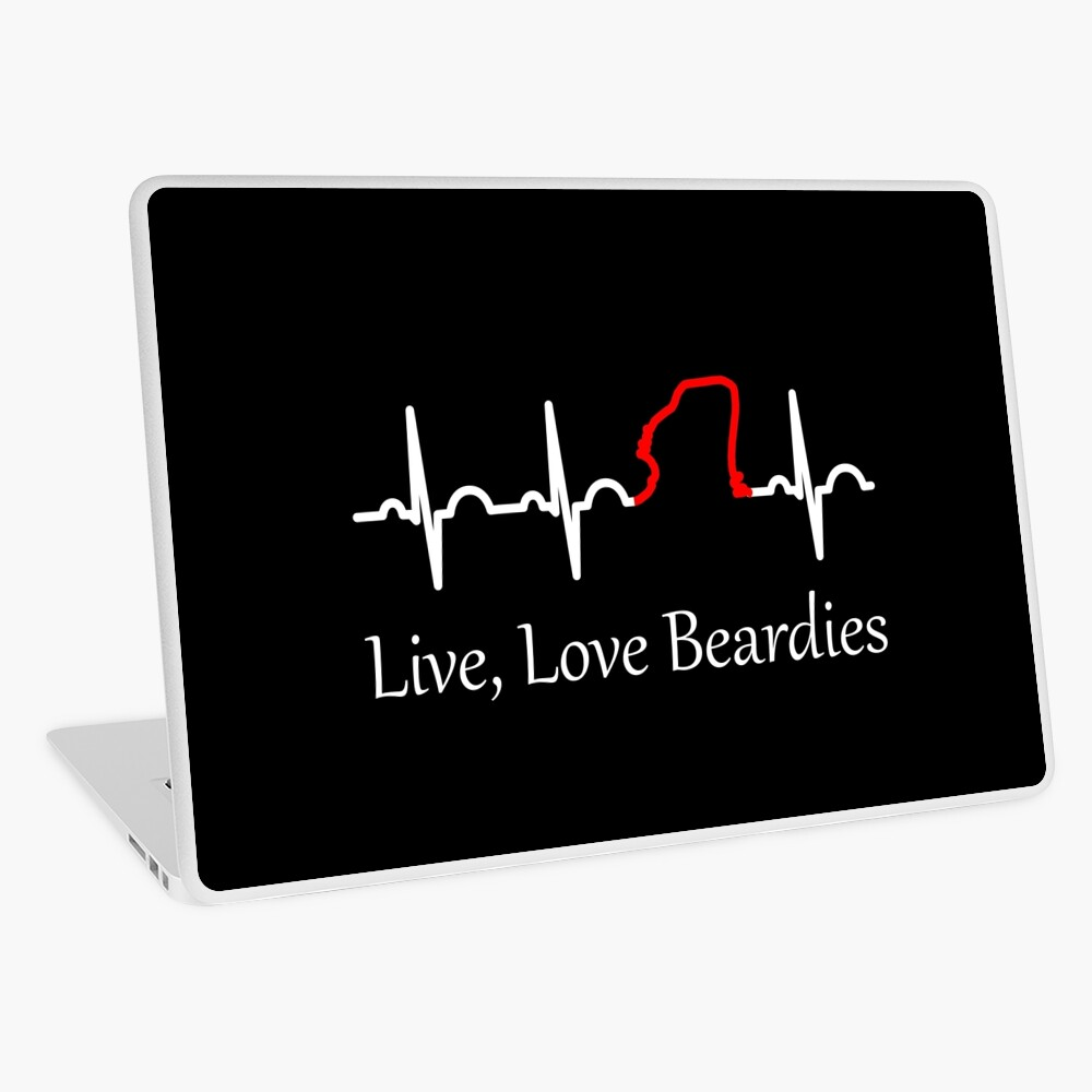 Live, Love Beardies Laptop Skin
