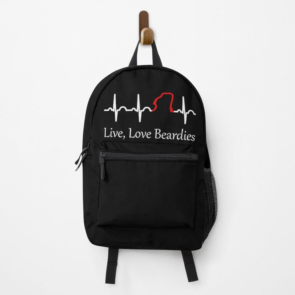 Live, Love Beardies Backpack