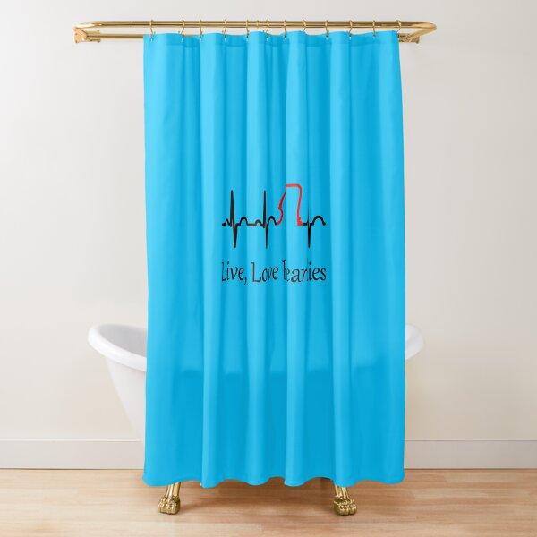 Live, Love Beardies Shower Curtain