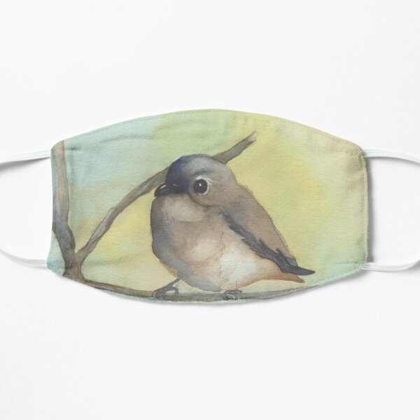 Cute Brown Bird Watercolor Mask