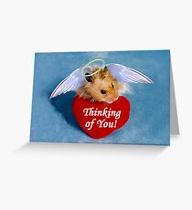 Thinking Of You Hamster Greeting Card