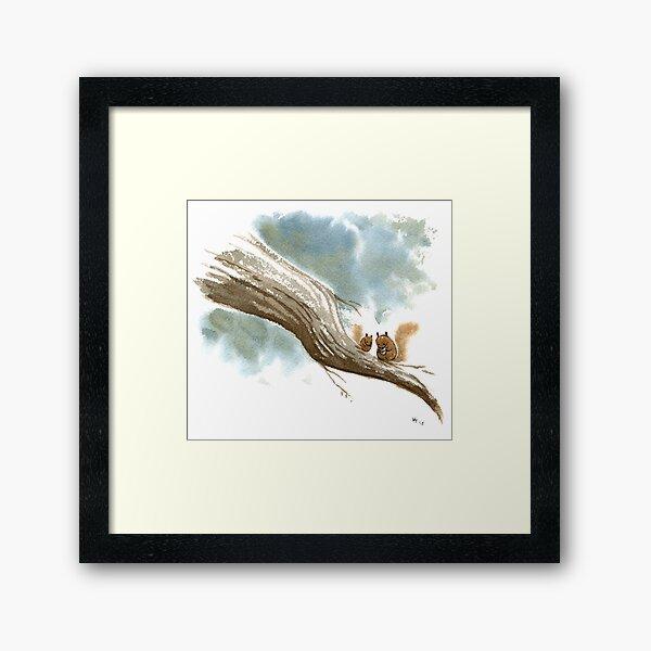 Sunday Squirrel Snacks Framed Art Print