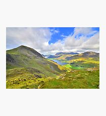 The Lake District: Overlooking Buttermere Photographic Print