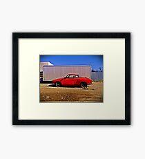 Karman Ghia, Abilene, Texas Framed Print