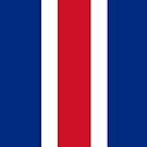 Costa Rica Flag by pjwuebker