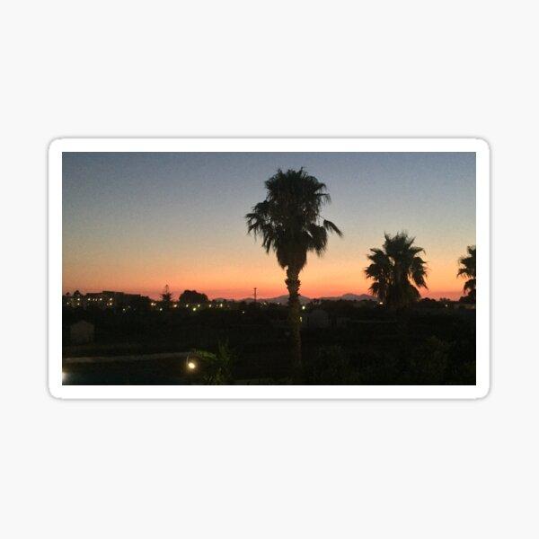 Sunset in Greece Sticker