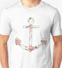 Floral Anchor 1 Unisex T-Shirt