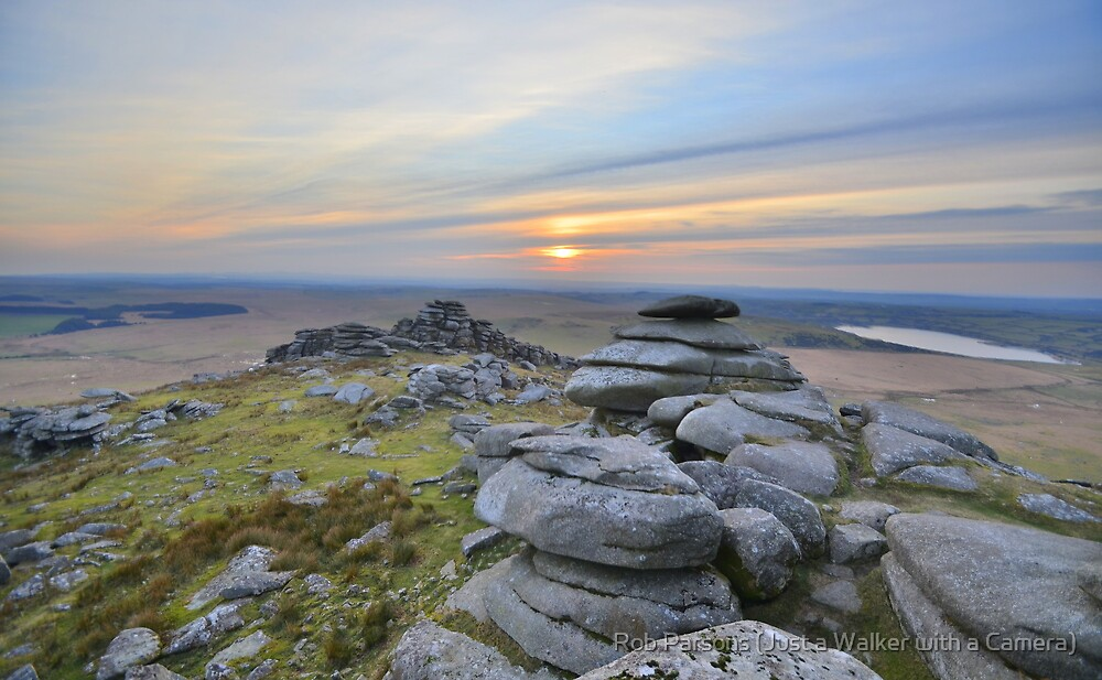Cornwall: Last Light at Roughtor by Robert Parsons