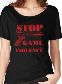 Stop Game Violence Women's Relaxed Fit T-Shirt