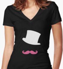Markiplier vector design (black background) Women's Fitted V-Neck T-Shirt
