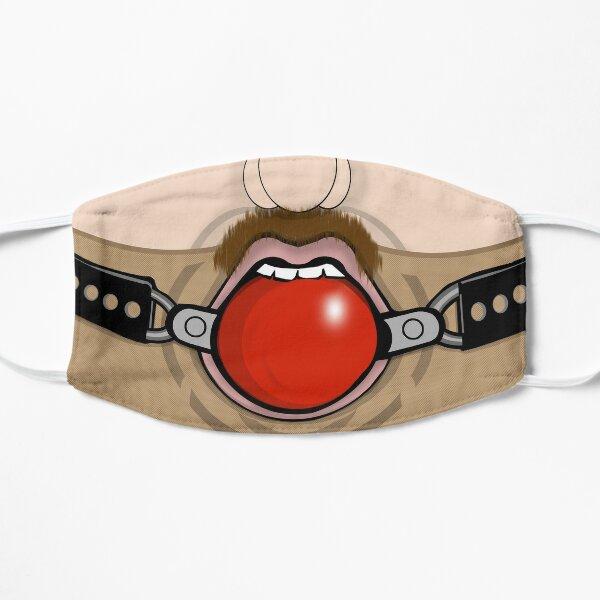 Gay Fetish BDSM Ball Gag Face Mask Flat Mask
