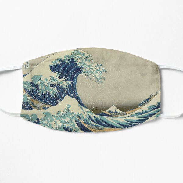 The Classic Japanese Great Wave off Kanagawa by Hokusai Flat Mask