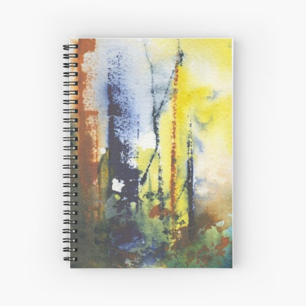 Watercolor Abstract Seasons Fall Winter Spring Summer Spiral Notebook
